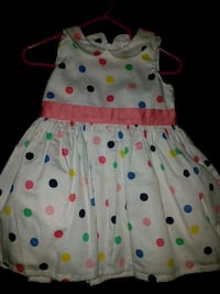 white and yellow polka dot sleeveless dress Toronto, M9V 3J4