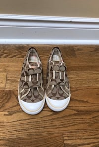 Coach Gold Velcro Sneakers