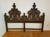 brown wooden bed headboard Montreal, H8Z 2R1