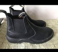 Blundstone Black Leather Boots Men Size 9.5/Women Size 11  Worn once.  No original box.  DESCRIPTION  Beautiful, versatile Blundstone Boots. This style is lined with leather, which is a good thing because you're going to want them to last for a long time. Vaughan