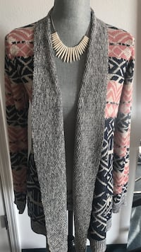 gray, black, and pink cardigan Grover Beach, 93433