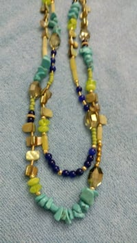 yellow and blue misbaha prayer beads 542 mi