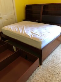 Brown wooden full bookshelf bed frame with trundle. Mattress not included Jacksonville, 32223