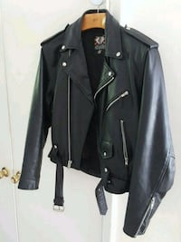 Men's 42 Leather Biker Jacket Asheville