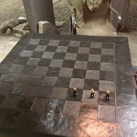 One of a kind hand polished Rundle chess table Calgary, T3H 0M9