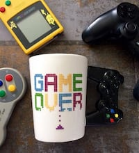 Game Over Kupa Bardak Game Over Joystick Mug