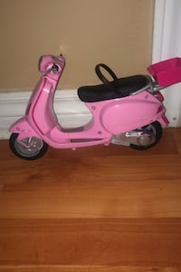 Barbie motorcycle ,with Barbie doll