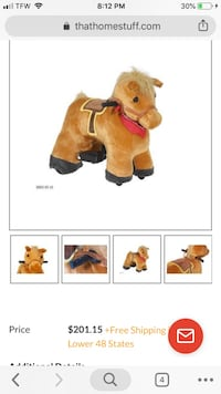 Brown horse plush toy screenshot Minot