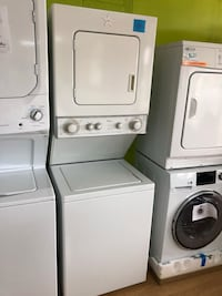 """Whirlpool beige stacked washer and dryer unit 24"""" Woodbridge, 22191"""
