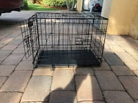 Black metal folding Medium dog crate Lake Worth, 33467
