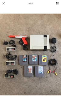 white Nintendo NES with cartridge, controller, and cable screenshot Hickman, 95323