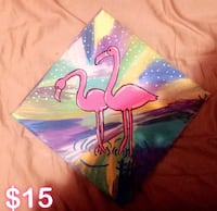 two pink flamingo painting New York, 11208
