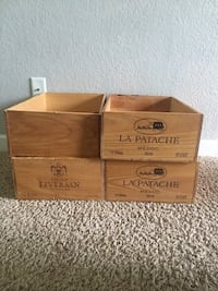 Set of 4 wine crates South Mills, 27976