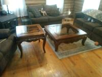 brown wooden framed glass top coffee table Hanover, 23069