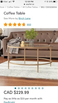 Brand new bronze coffee table Mississauga, L4W