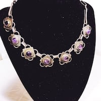 1930s Art Deco Silver & Purple Necklace Broke  Portland, 97222