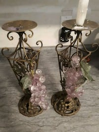 two brown metal candle holders Quinte West, K8V 6P9
