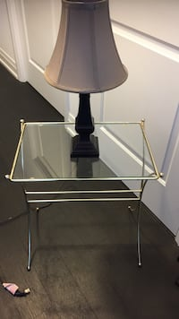 Side table with lamp pick up only