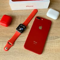 iPhone 8 plus with watch and AIRPODS  Toronto, M6H 2X7