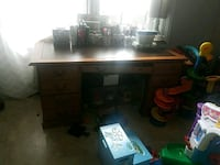 Solid wood desk  West Islip, 11795