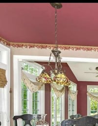 Tiffany style (non glass multicolor shades) chandelier! Middletown, 21769