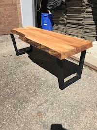 Live edge bench with metal legs Markham, L6C 0H9