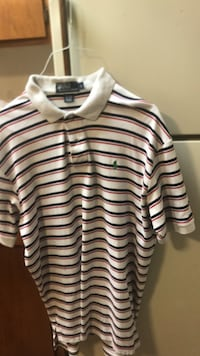 white and black striped polo shirt Norman, 73072