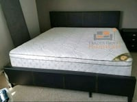 Brand New King Size Leather Bed +Mattress  Silver Spring, 20902