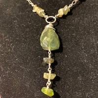 Nephrite jade sterling Silver Necklace Ashburn, 20147
