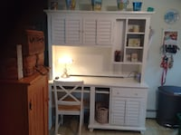 white wooden desk with hutch East Providence, 02915