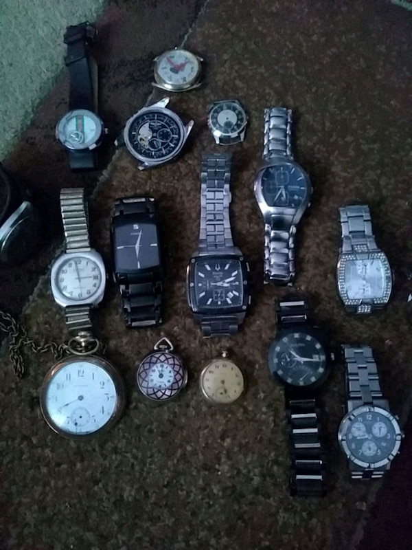 assorted-color analog watch lot