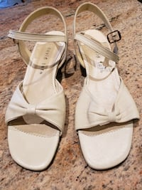 Woman's Beige Leather Dress Sandals