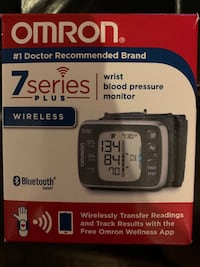 """BRAND NEW """"OMRON"""" 7 SERIES PLUS WRIST BLOOD PRESSURE MONITOR Guelph, N1G 5A9"""