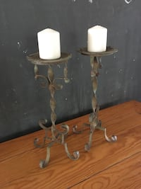 Pair of Metal Candleholders  Aldie, 20105