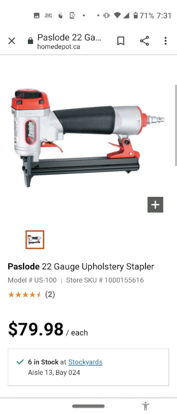 Paslode air stapler 3/8_9/16 0