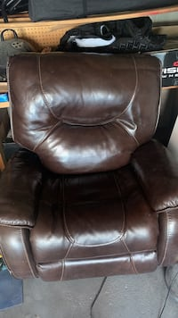 Leather recliner 200 obo