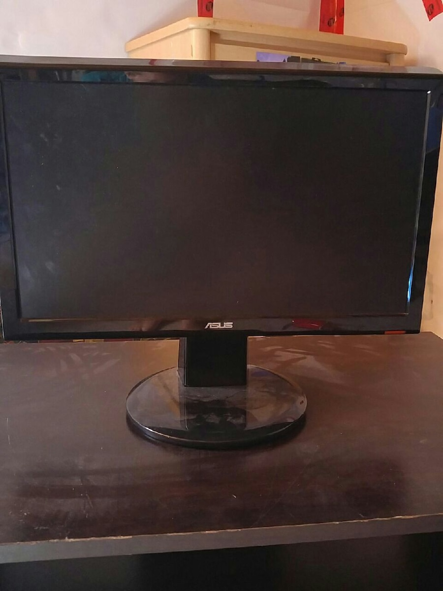 Asus flat screen 15 in monitor with cables