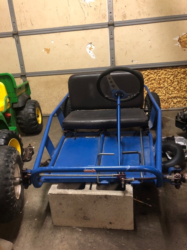 Blue and black go cart (read description)