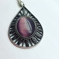 Purple Moonstone Long Necklace Ashburn, 20148