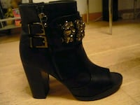 plate-forme noire talons chunky bottes Marseille, 13008