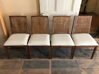 Vintage Mid Century Modern Dining Chairs - Set of Four - Caning inlay 249 mi
