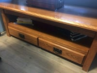 brown wooden framed glass top coffee table Orangeville, L9W 3J5