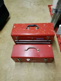 red and black tool chest Kitchener, N2M 4N6