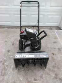 black Craftsman snow blower