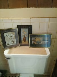 three flowers paintings with frames Sheffield, 35660