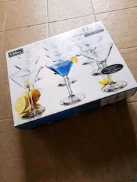 New 12 Libby Martini Party glasses