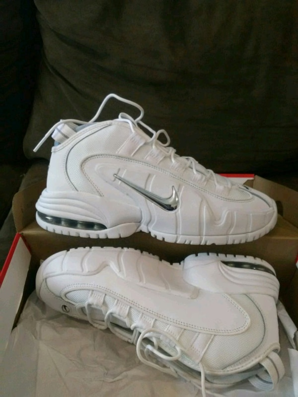 0c0a3594907b Used White Nike Air Max Penny Shoes for sale in Loganville - letgo