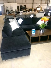 black fabric sectional sofa with ottoman Indianapolis, 46219
