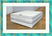Queen mattress double pillowtop free box and ship Temple Hills