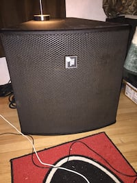 Black and gray JBL Professional Speaker Dearing, 30808